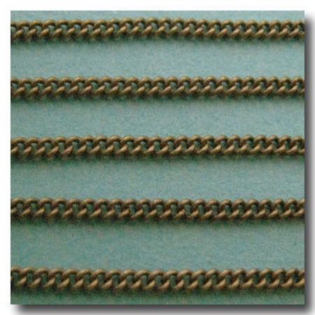 Antique Brass Micro Curb Chain