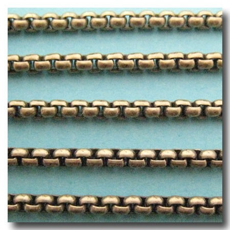Antique Brass New Box Chain 4mm
