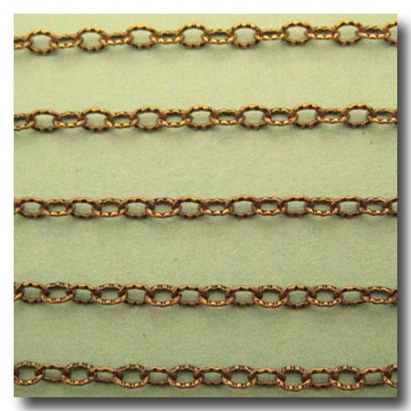 Antique Brass Petite Etched Margarithe Chain