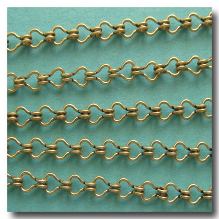 Antique Brass Petite Steampunk Chain