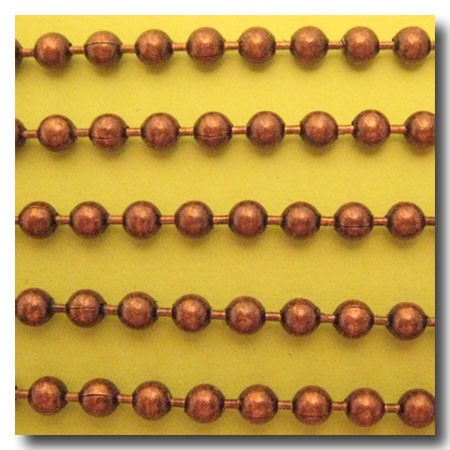 Antique Copper Ball Chain 4.5mm