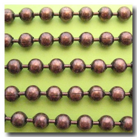 Antique Copper Ball Chain 6.4mm