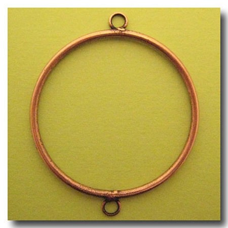 Antique Copper Circle Link | 40mm