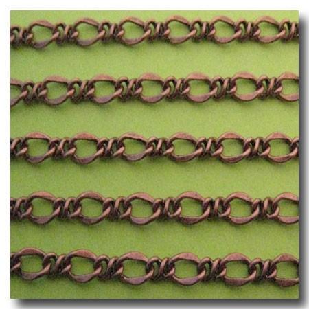 Antique Copper Lovers Knot Chain