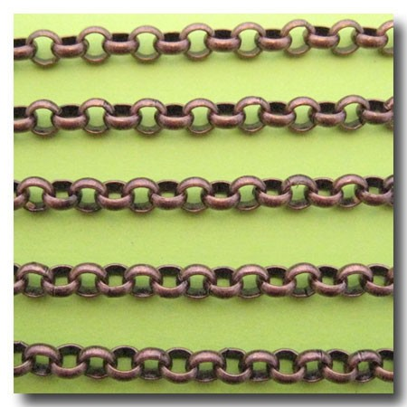 Antique Copper Rolo Chain 6mm