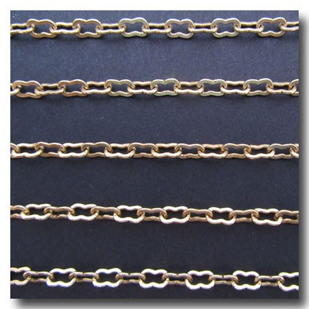 Antique Gold Plate Large Peanut Style Chain