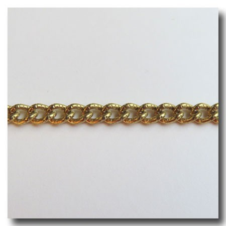 Limited Run | Antique Gold Plate Etched Curb Chain