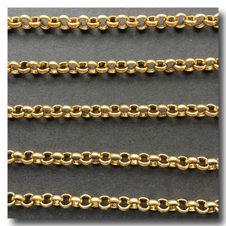 Antique Gold Plate Rolo Chain 4 5mm