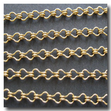 Antique Gold Plate Petite Steampunk Chain