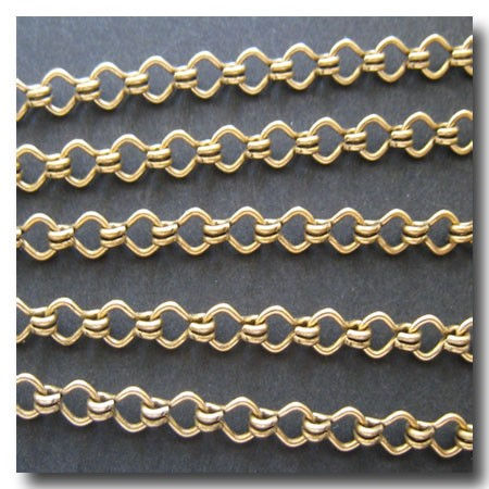 Antique Gold Plate Standard Steampunk Chain