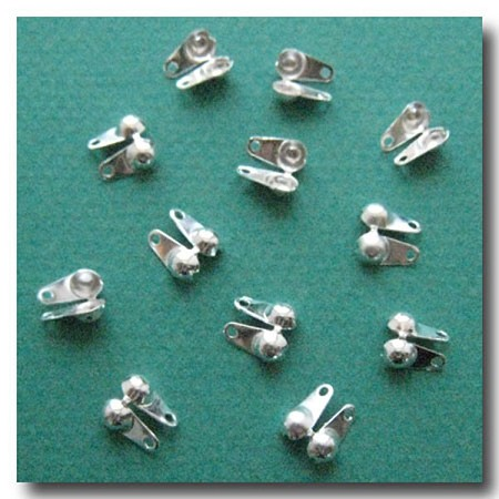 Ball Chain Tip Connector | Silver Plate | 3.2mm | 6 pieces