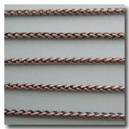 Brushed Silver Plate Small Wheat Chain 3mm