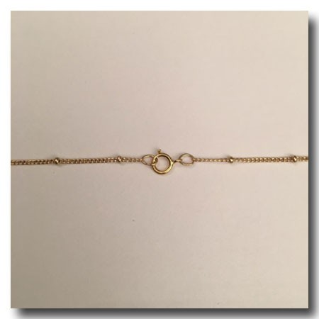 Gold Filled Necklace | Satellite Chain 5/8 Inch | 16 inch