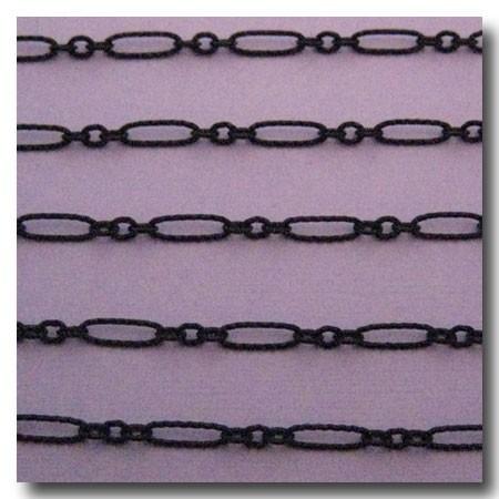 Matte Black Crimped Olivet Chain