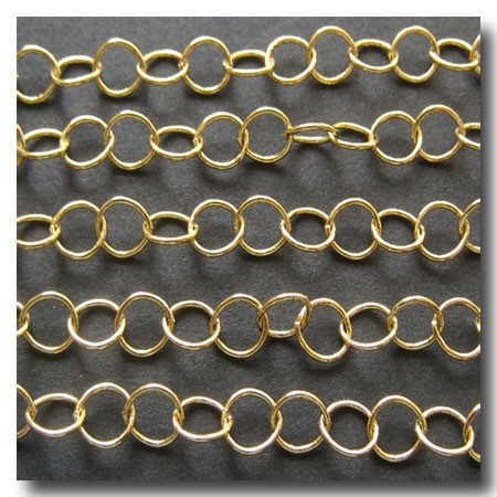 Curb Chain | Gold Plate | Contemporary Round | 5mm