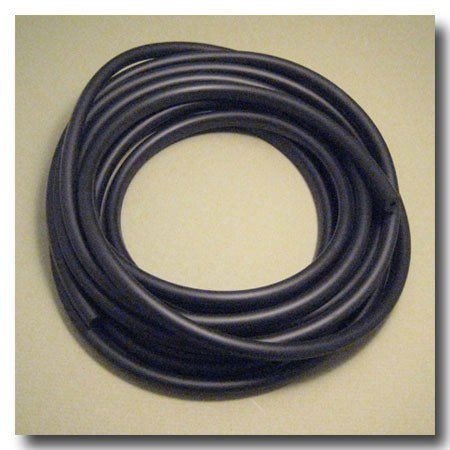 Black Euro Licorice Rubber 10mm x 6mm