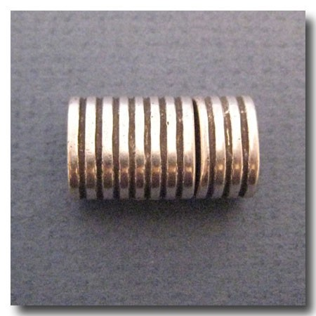 Antique Silver Euro Licorice Striped Magnet Clasp