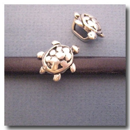 Antique Silver Euro Licorice Turtle