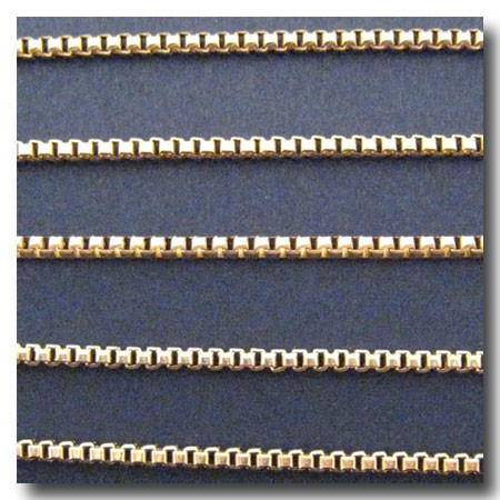 Gold Plate Italian Style Box Chain 2mm