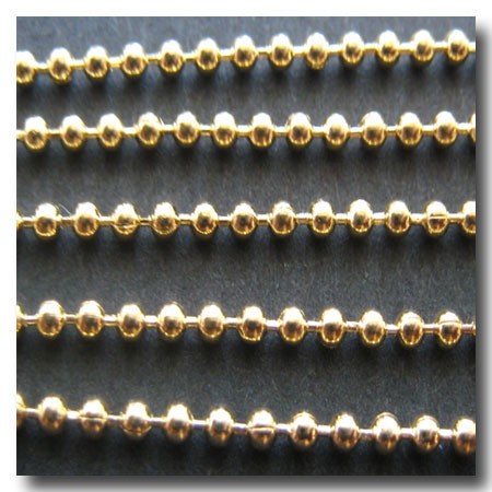 Gold Plate Ball Chain 1.5mm