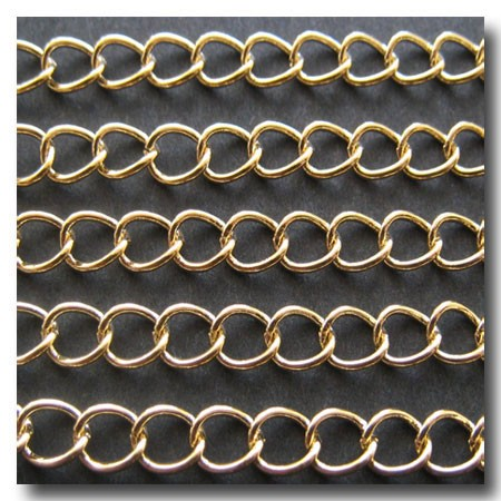 Gold Plate Classic Curb Chain