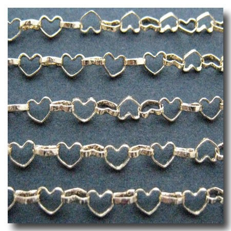 Gold Plate Amore' Heart Chain