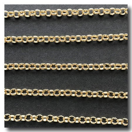 Gold Plate  Rolo (Belcher) Style Chain 3mm