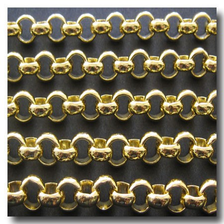 Gold Plate Large Rolo Chain 7mm