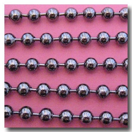Gunmetal Ball Chain 6.4mm