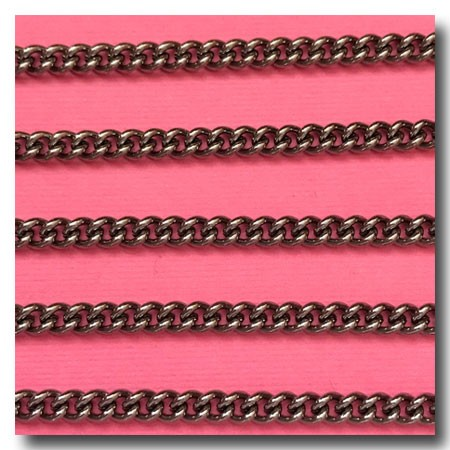Gunmetal Cuban Curb Chain 4mm