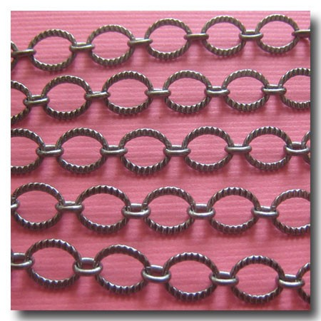 Gunmetal Crimped Oval Style Chain