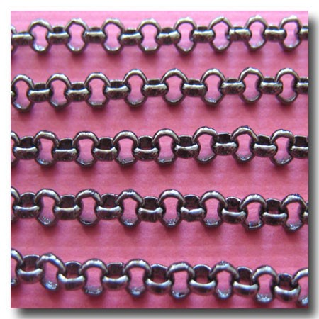 Gunmetal Small Classic Rolo (Belcher) Style Chain 2.5mm