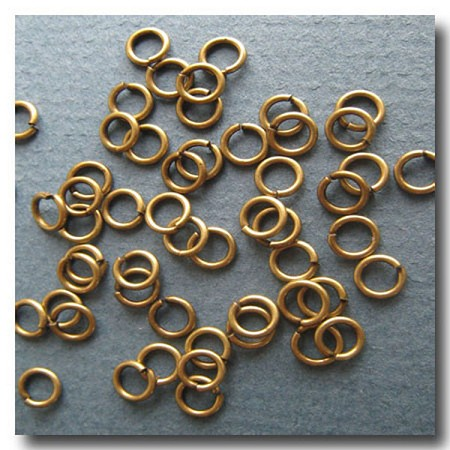 Jump Rings | Antique Brass | 6mm x 18 gauge | approx. 90 pieces