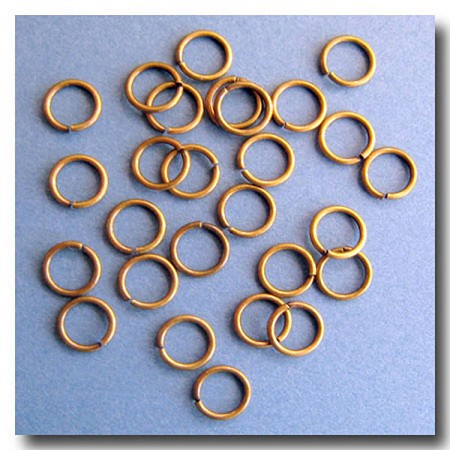 Jump Rings | Antique Brass | 8mm x 18 gauge | approx. 65 pieces