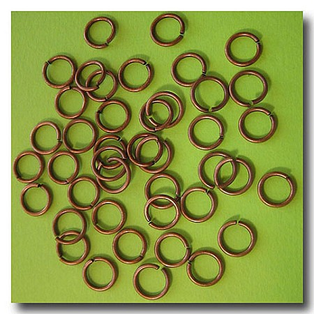 Jump Rings | Antique Copper | 8mm x 18 gauge | approx. 65 pieces