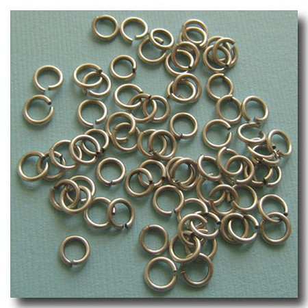 Jump Rings | Brushed Silver Plate | 6mm x 18 gauge | approx. 90 pieces