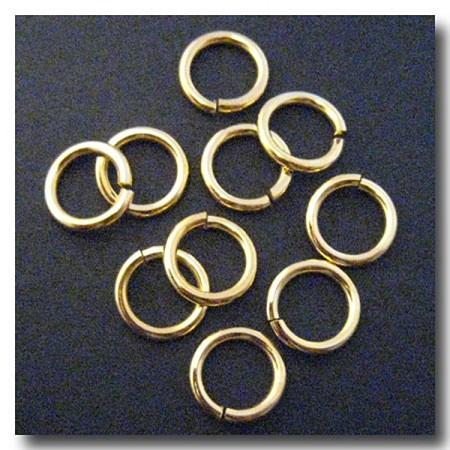 Jump Rings | Gold Plate | 12mm x 13 gauge | 10 pieces