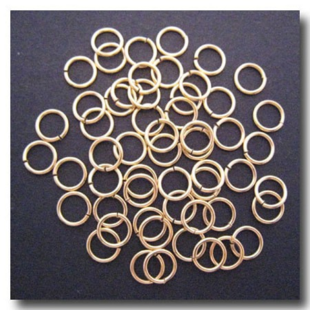 Jump Rings | Matte Gold Plate | 8mm x 18 gauge | approx. 65 pieces