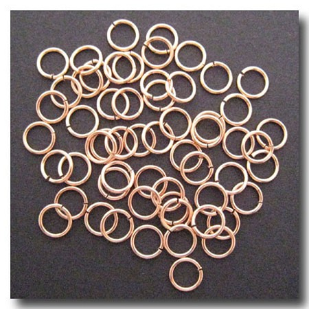 Jump Rings | Rose Gold Plate | 8mm x 18 gauge | approx. 65 pieces