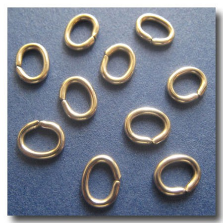 Jump Rings | Stainless Steel | 7.5  x 5.8mm oval x 16 gauge | 10 pieces