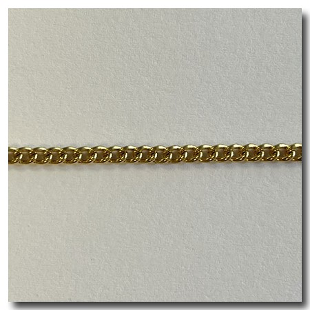 Limited Run | Antique Gold Plate Curb Chain 2.5mm