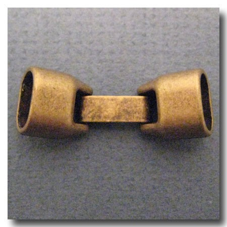 Antique Brass Euro Licorice Snap Clasp