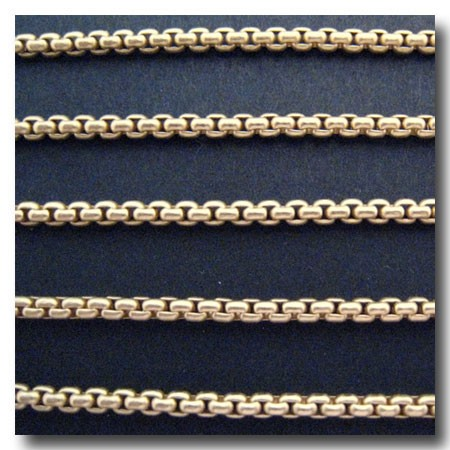 Matte Gold Plate New Box Chain 2.5mm