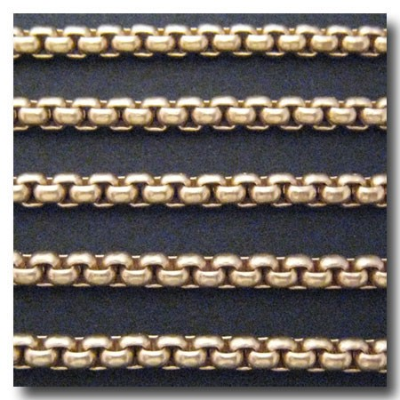 Matte Gold Plate New Box Chain 4mm