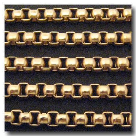 Matte Gold Plate New Box Chain 7mm