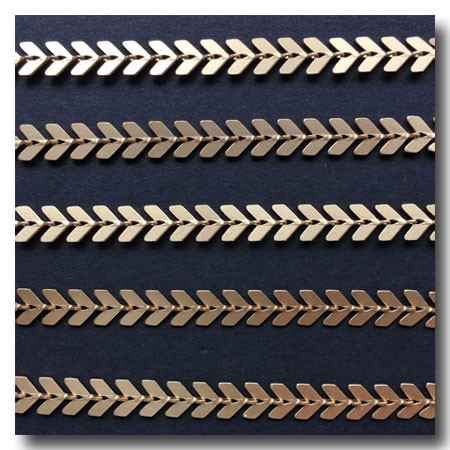 Matte Gold Plate Chevron Chain