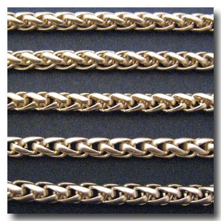 Matte Gold Plate Large Wheat Chain 6mm
