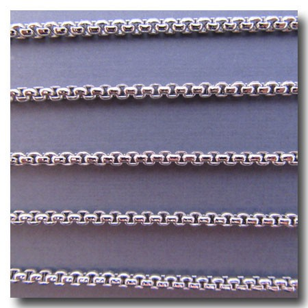 Rhodium Plate New Box Chain 3mm