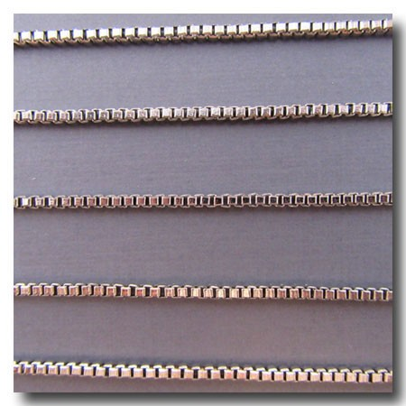 Rhodium Plate Italian Style Box Chain 2mm