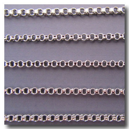 Rhodium Plate Ladder Chain 3.5mm